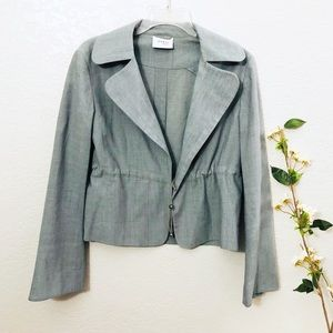 Akris Punto gray Blazer/jacket size 8